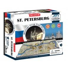 Объемный пазл 4Д город Петербург, Россия , 4D CITYSCAPE 40036