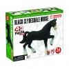 Объемный пазл 3Д Лошадь тяжеловоз черная, 4D Master 26526