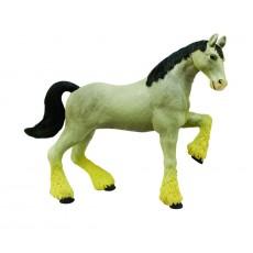 Лошадь тяжеловоз серая