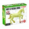Объемный пазл 3Д Лошадь тяжеловоз белая, 4D Master 26529