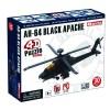 Объемный пазл 3Д Военный вертолет AH-64 Black Apache, 4D Master 26300