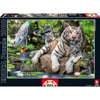 Пазл  Белий бенгальский тигр 1000 элементов, EDUCA EDU-14808