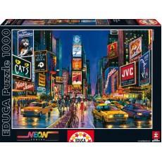 Пазл  Таймс-сквер, Нью-Йорк 1000 элементов, EDUCA EDU-13047