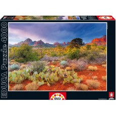 Пазл  Закат в Ред Рокс, Аризона США 4000 элементов, EDUCA EDU-16324