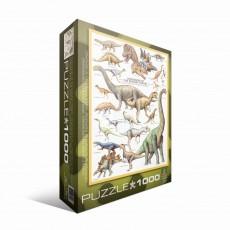 Пазл  Динозавры Юрского периода 1000 элементов, EuroGraphics 6000-0099