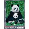 Пазл  Панда с детенышем 1000 элементов, EuroGraphics 6000-0173