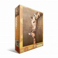 Пазл  Жирафы - материнский поцелуй 1000 элементов, EuroGraphics 6000-0301