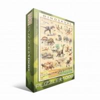 Пазл  Динозавры 1000 элементов, EuroGraphics 6000-1005