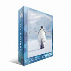 Пазл  Пингвин с пингвиненком 1000 элементов, EuroGraphics 6000-1246