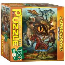 Пазл  Хищные динозавры 100 элементов, EuroGraphics 8100-0359