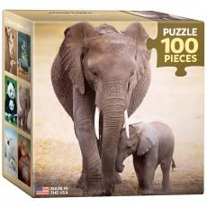 Пазл  Слониха и слоненок 100 элементов, EuroGraphics 8104-0270