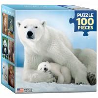 Пазл  Белая медведица с медвежонком 100 элементов, EuroGraphics 8104-1198
