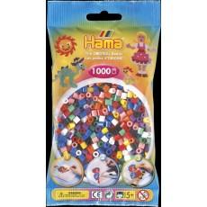 Набор цветных бусин для термомозаики Midi 5+, 1000 шт., 8 цветов, Hama 207-00