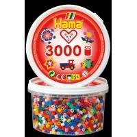 Набор цветных бусин для термомозаики Midi 5+, 3000 шт., 10 цветов, Hama 210-00