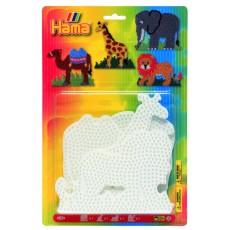 Набор полей для Midi - слон, жираф, лев, верблюд, Hama 4554