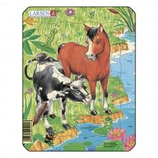 Пазл для маленьких Домашние животные №3, серия МИНИ, Larsen M1-3