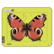 Пазл для маленьких Бабочка, серия МИНИ, Larsen Z2-3