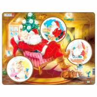 Пазл для маленьких Дед Мороз, серия МАКСИ, Larsen JUL2