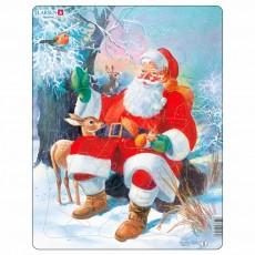 Пазл для маленьких Дед Мороз в лесу, серия МАКСИ, Larsen JUL7