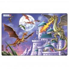 Пазл для маленьких Драконы №1, серия МИДИ, Larsen U12-1