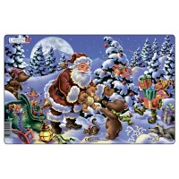 Пазл для маленьких Дед Мороз с подарками, серия МИДИ, Larsen XC1-1