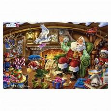 Пазл для маленьких Дед Мороз читает письма, серия МИДИ, Larsen XC1-2
