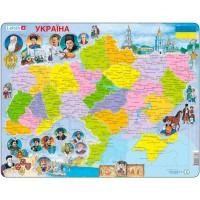 Пазлы рамки-вкладыши Карта Украины - история Larsen, Larsen K62