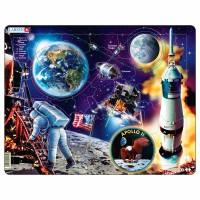 Пазл для маленьких Путешествие на Луну Аполлон-11 , серия МАКСИ, Larsen NB5