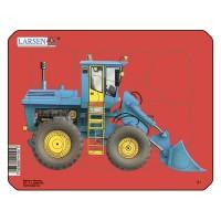 Пазл для маленьких Трактор №1, серия МИНИ, Larsen Z1-1