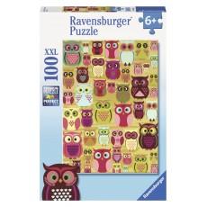Пазл  Совы 100 элементов, Ravensburger RSV-105281