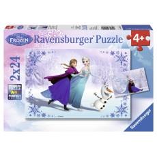 Пазл  Сестры навсегда 2 пазла по 24 элемента, Ravensburger RSV-091157