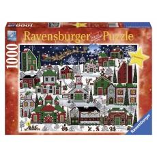 Пазл  Американское Рождество 1000 элементов, Ravensburger RSV-194445