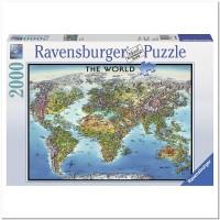 Карта Мира 2000 элементов, Ravensburger RSV-166831