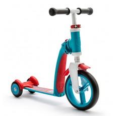 Беговел и самокат Scoot and Ride Highwaybaby+ сине-красный