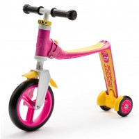 Беговел и самокат Scoot and Ride Highwaybaby+ розово-желтый